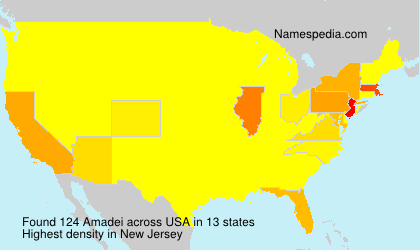 Surname Amadei in USA