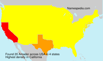 Surname Amader in USA