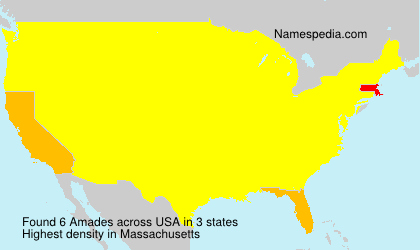 Surname Amades in USA