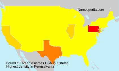 Surname Amadie in USA