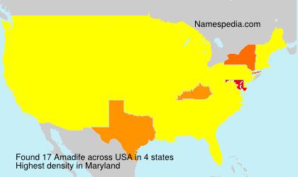 Familiennamen Amadife - USA