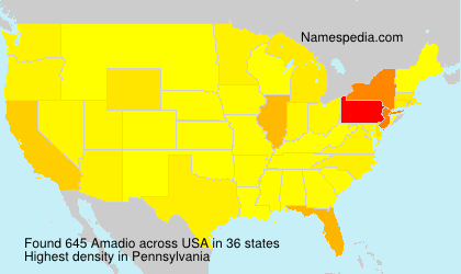 Surname Amadio in USA