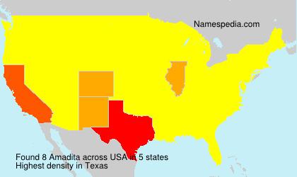 Familiennamen Amadita - USA