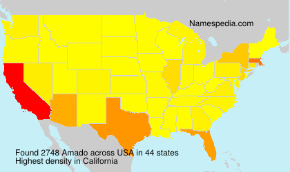Surname Amado in USA