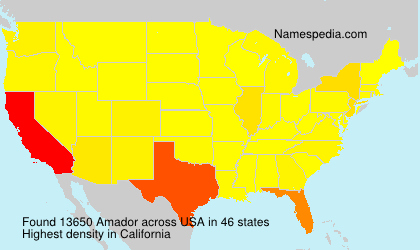 Surname Amador in USA