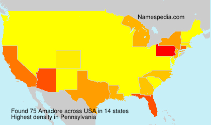 Surname Amadore in USA