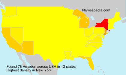 Familiennamen Amadori - USA