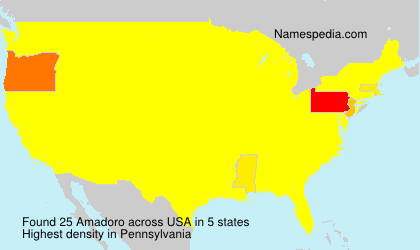 Surname Amadoro in USA