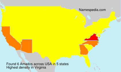 Surname Amados in USA