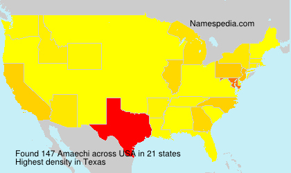Surname Amaechi in USA