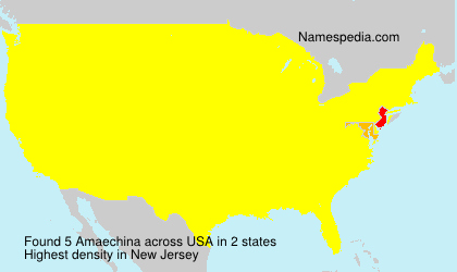 Surname Amaechina in USA