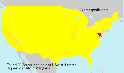 Surname Amaguana in USA