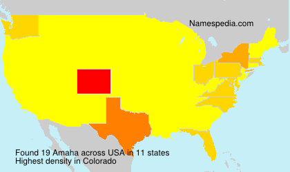 Surname Amaha in USA