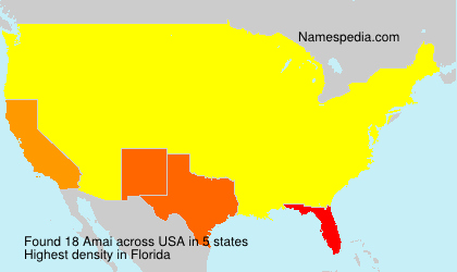Surname Amai in USA