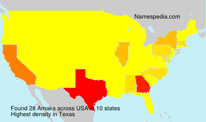 Surname Amaka in USA