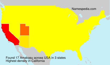 Surname Amakasu in USA