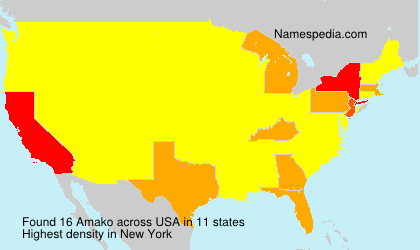 Surname Amako in USA