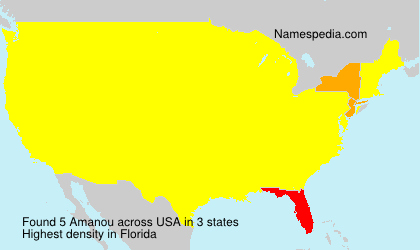 Surname Amanou in USA