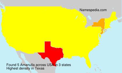 Familiennamen Amanulla - USA
