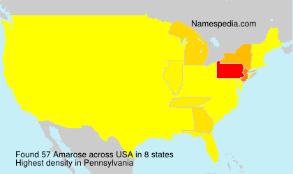 Surname Amarose in USA