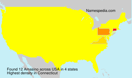 Surname Amasino in USA