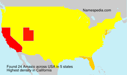 Surname Amasio in USA