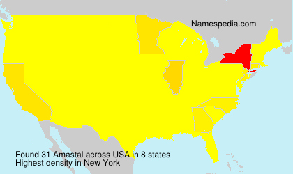Surname Amastal in USA
