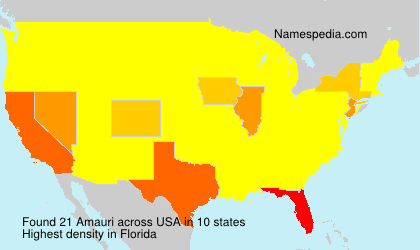 Surname Amauri in USA