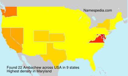 Surname Ambachew in USA