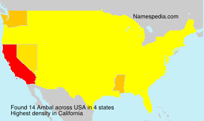 Surname Ambal in USA