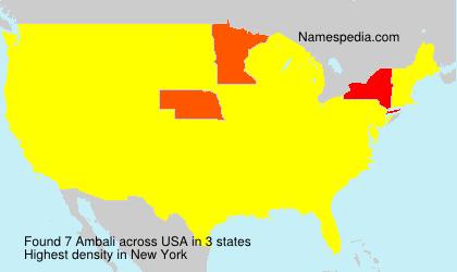 Familiennamen Ambali - USA