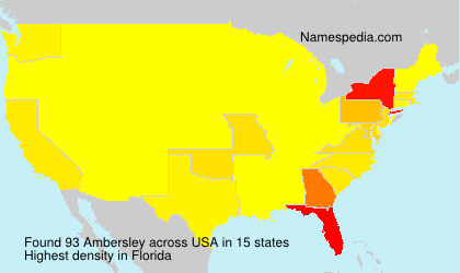 Surname Ambersley in USA