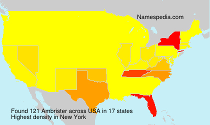Surname Ambrister in USA
