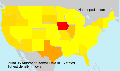 Surname Ambroson in USA
