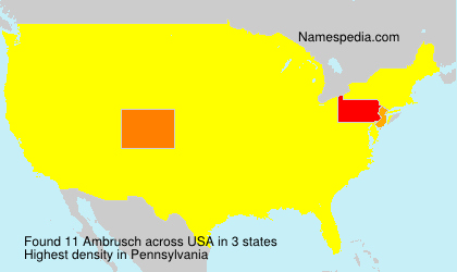 Surname Ambrusch in USA