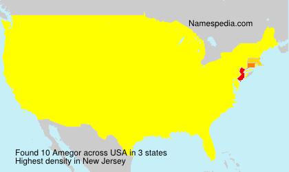 Familiennamen Amegor - USA