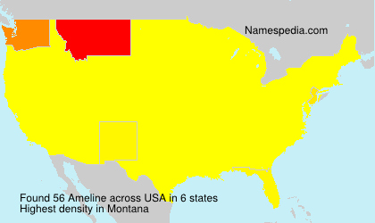 Surname Ameline in USA