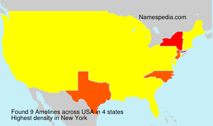 Surname Amelines in USA