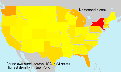 Surname Amell in USA