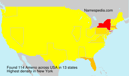 Surname Ameno in USA