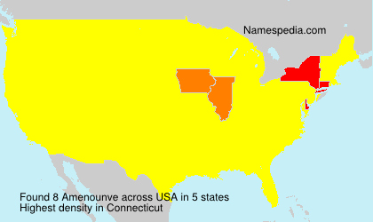 Surname Amenounve in USA
