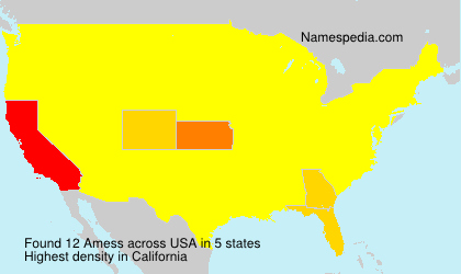 Surname Amess in USA