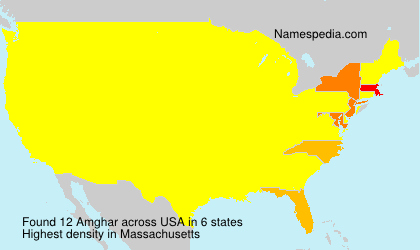 Surname Amghar in USA