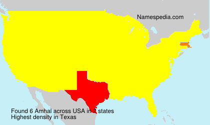 Surname Amhal in USA