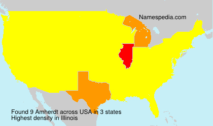 Surname Amherdt in USA