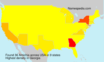 Surname Amichia in USA