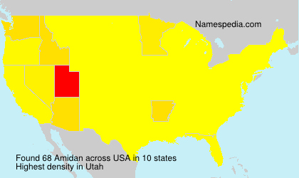 Surname Amidan in USA