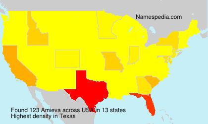 Surname Amieva in USA