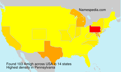 Surname Amigh in USA