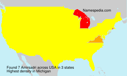 Surname Amirsadri in USA
